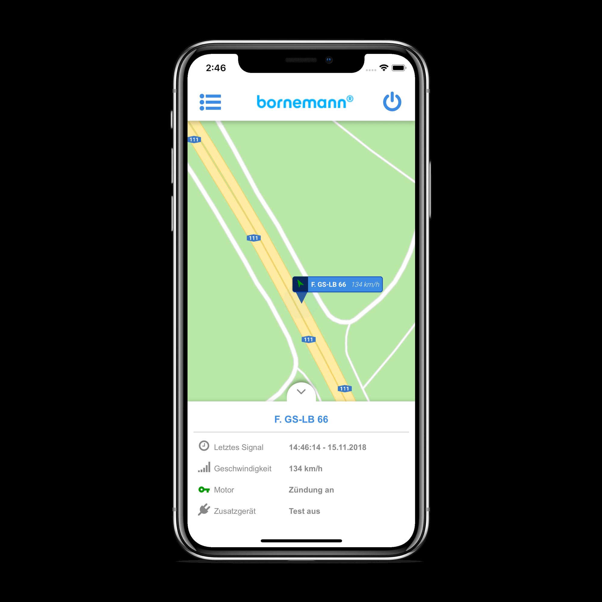 Bornemann Infleet Update App Live Ortung