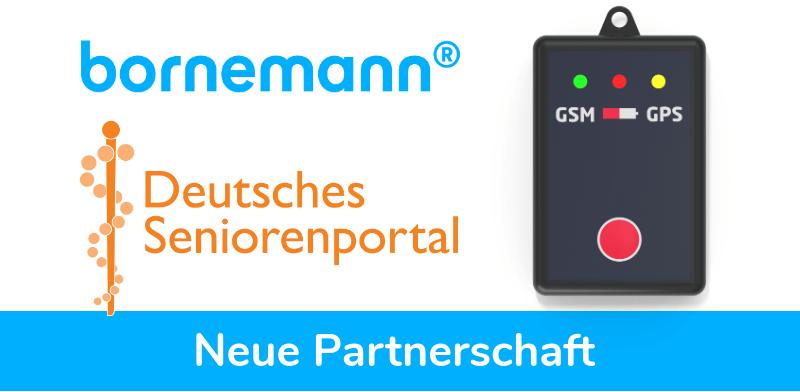Bornemann ist exklusiver GPS Partner vom Deutschen Seniorenportal