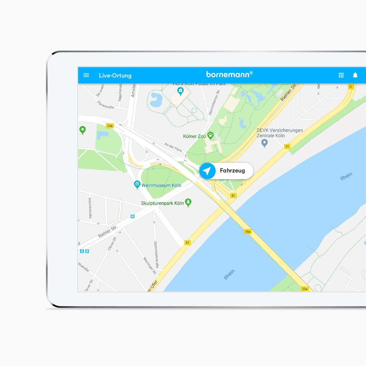 GPS Fahrzeugortung von Bornemann