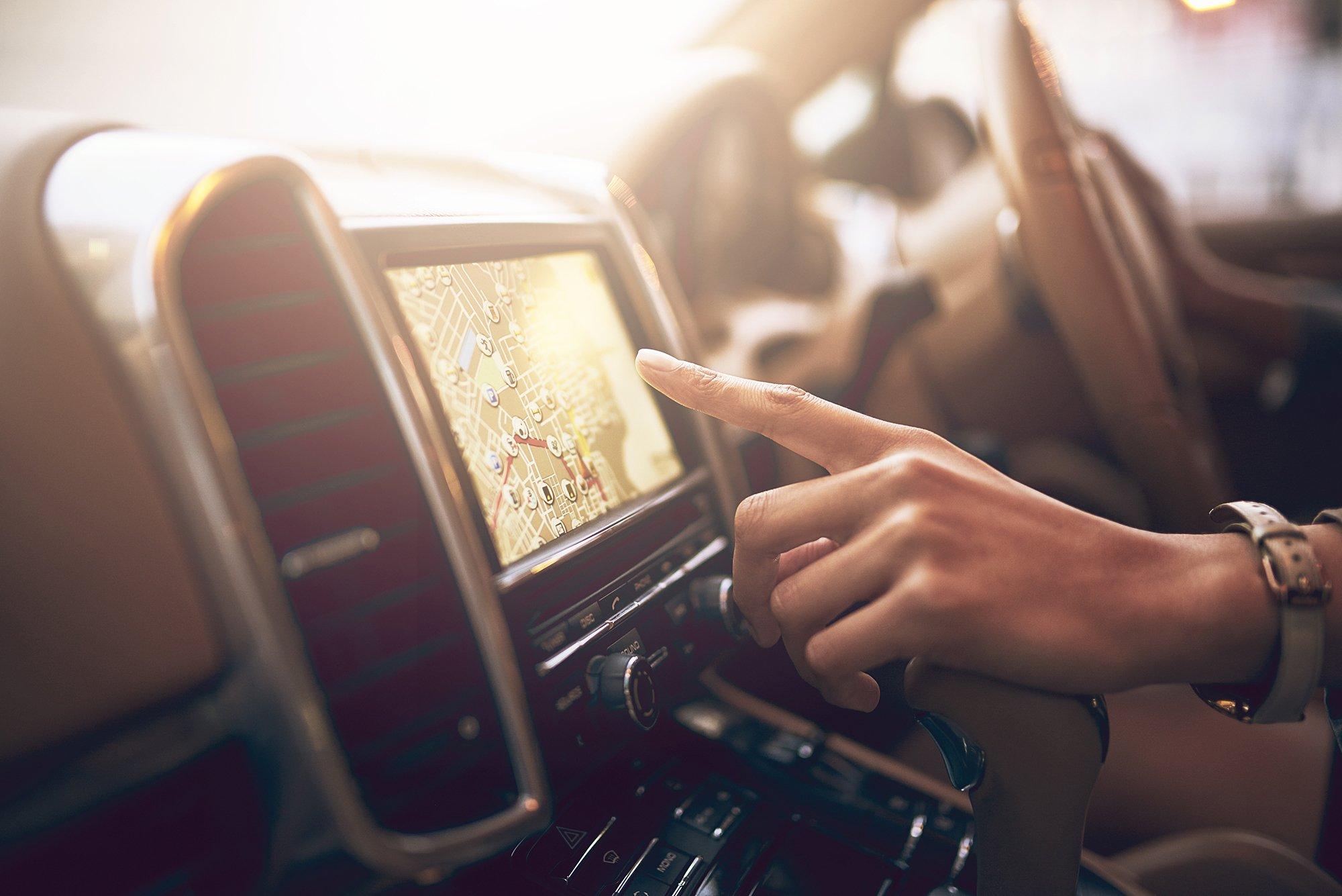 GPS Navigation im Auto
