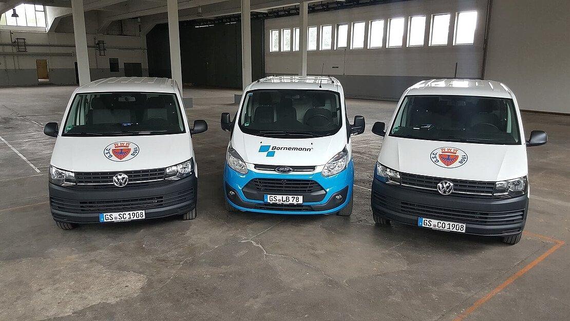 VW Busse vom Goslarer SC 08 wurden mit Bornemann GPS Systemen ausgestattet